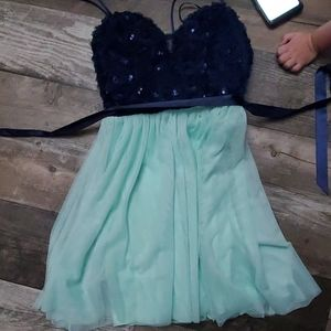 Navy and teal dress